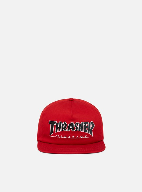 cappellini thrasher outlined snapback red