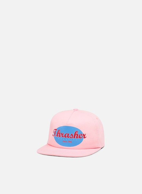 cappellini thrasher oval snapback pink