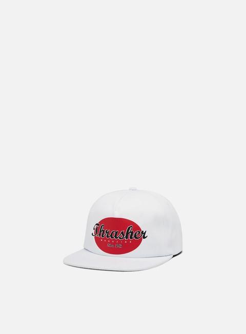 cappellini thrasher oval snapback white