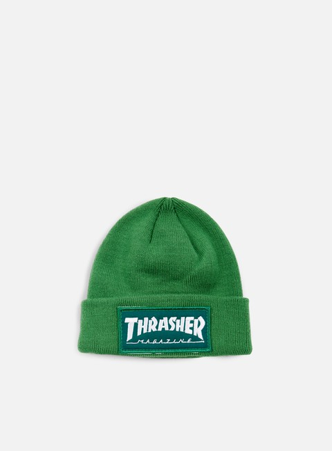 cappellini thrasher patch beanie green