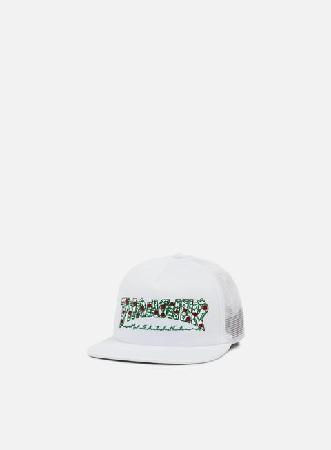 cappellini thrasher roses trucker cap white