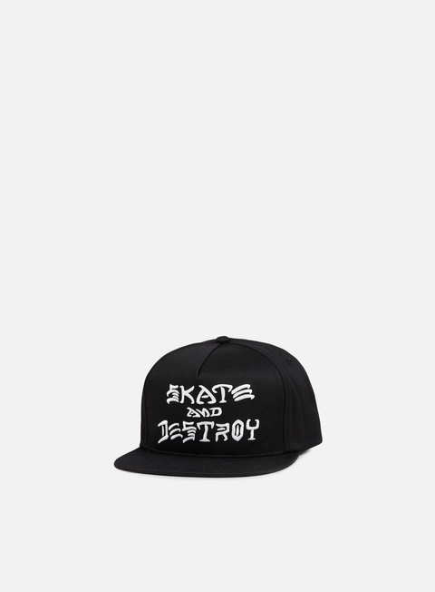 cappellini thrasher skate and destroy snapback black