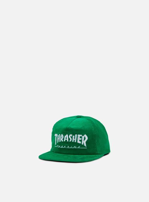 cappellini thrasher skatemag corduroy snapback green