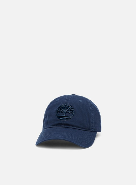 Curved Brim Caps Timberland Cotton Canvas Cap