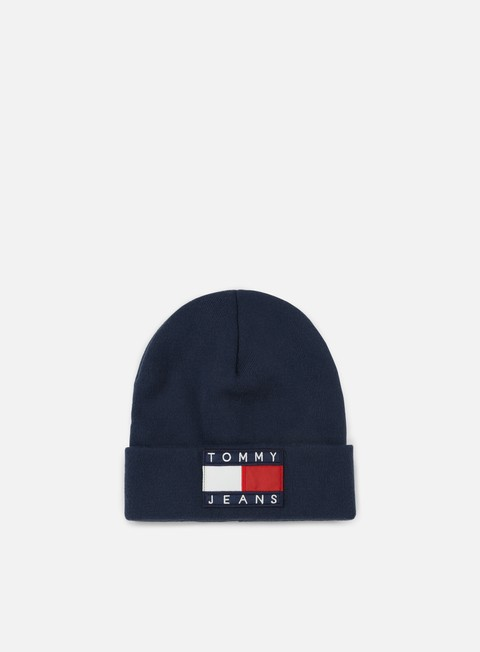 cappellini tommy hilfiger tj 90s flag beanie peacoat