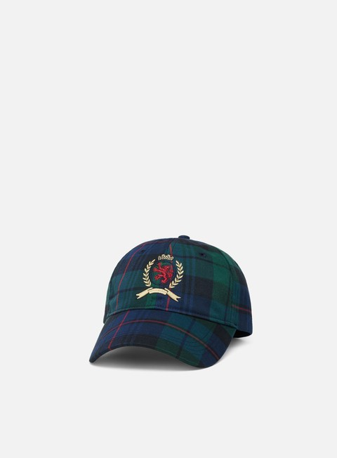 Curved Brim Caps Tommy Hilfiger TJ Crest Plaid Cap