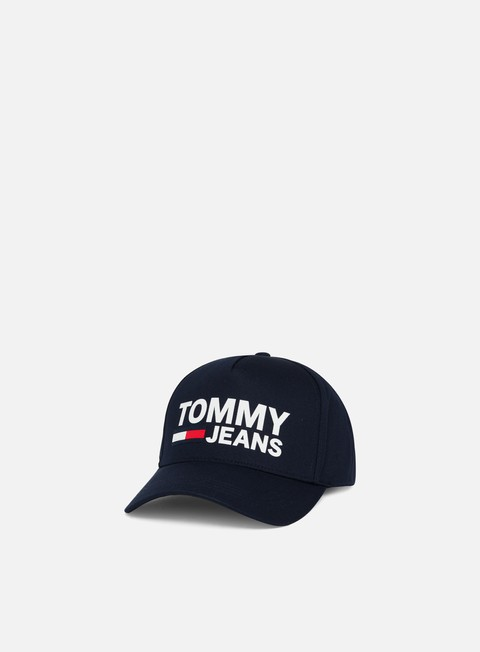 Sale Outlet Curved Brim Caps Tommy Hilfiger TJ Flock Cap