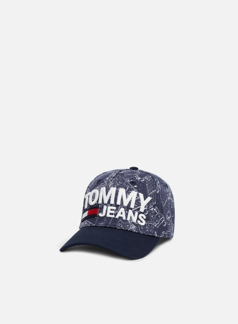 Sale Outlet Curved Brim Caps Tommy Hilfiger TJ Skateboard Print Cap