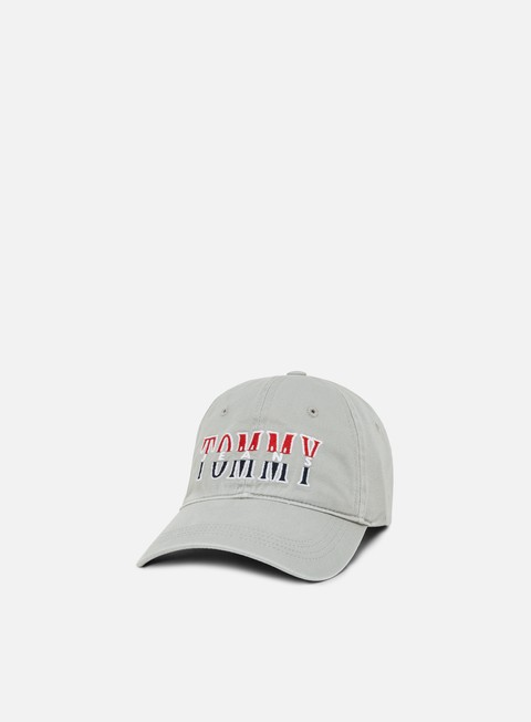 cappellini tommy hilfiger tjm corp logo cap light grey heather