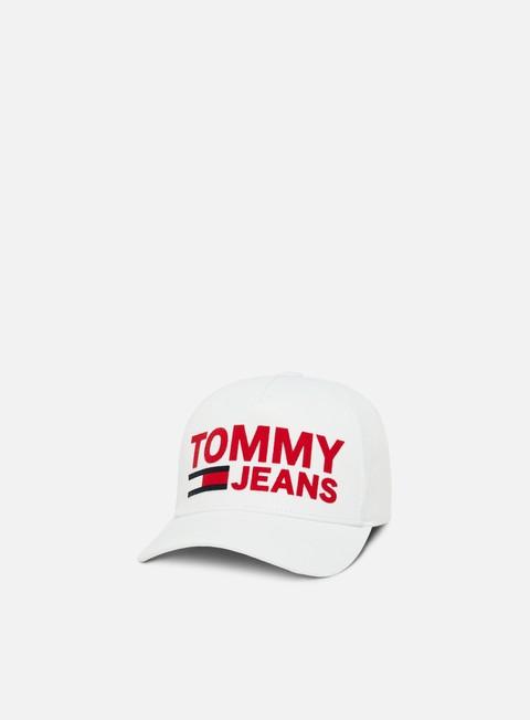 cappellini tommy hilfiger tju flock print cap bright white