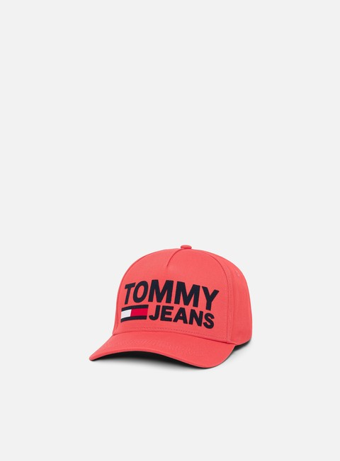 Curved Brim Caps Tommy Hilfiger TJU Flock Print Cap