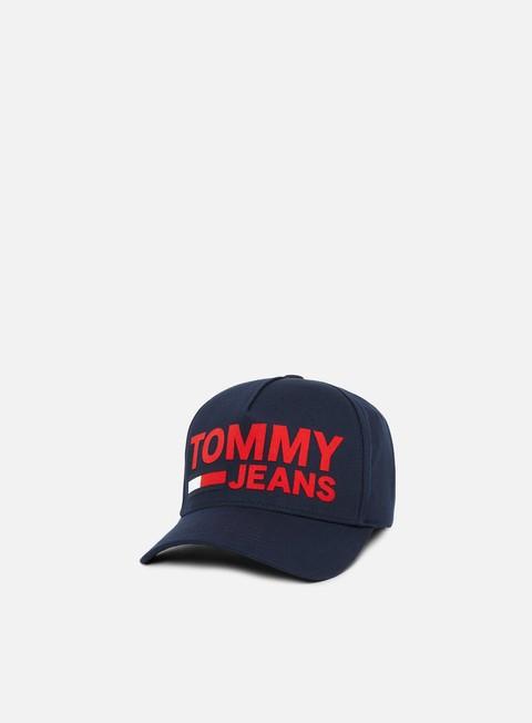 cappellini tommy hilfiger tju flock print cap tommy navy