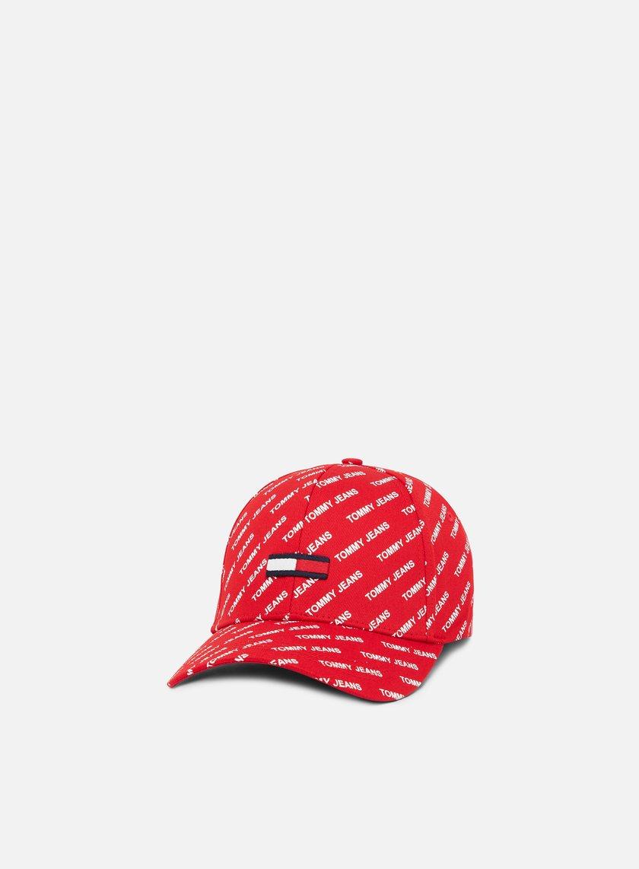 ac2d5c66b6f4a TOMMY HILFIGER TJU Printed Flag Cap € 35 Curved Brim Caps