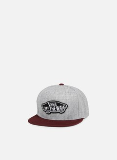 Vans - Classic Patch Snapback, Heather Grey/Port Royale