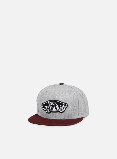 cappellini vans classic patch snapback heather grey port royale