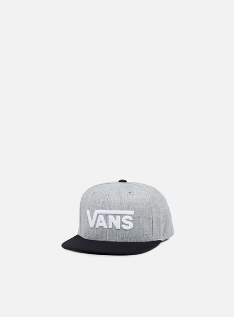 cappellini vans drop v ii snapback heather grey black
