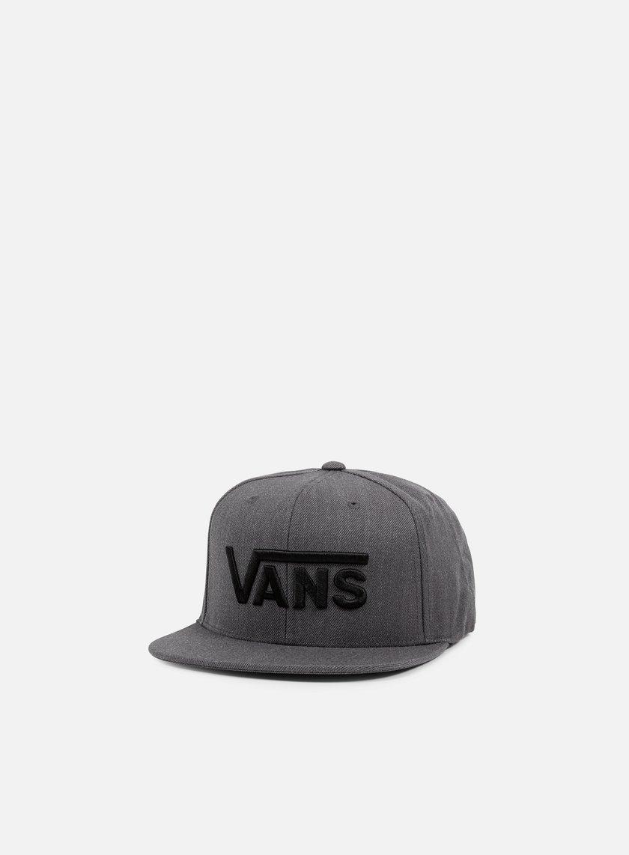 Vans - Drop V Snapback, Black/Black