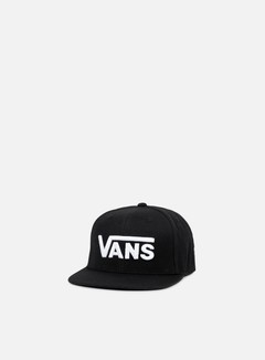Vans - Drop V Snapback, Black/White 1