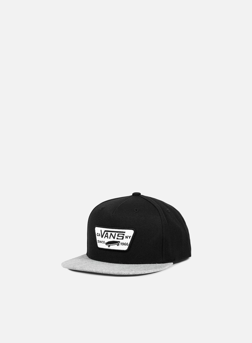 Vans - Full Patch Snapback, Black/Heather Grey