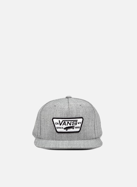 cappellini vans full patch snapback heather grey