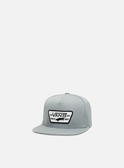 cappellini vans full patch snapback heather grey black