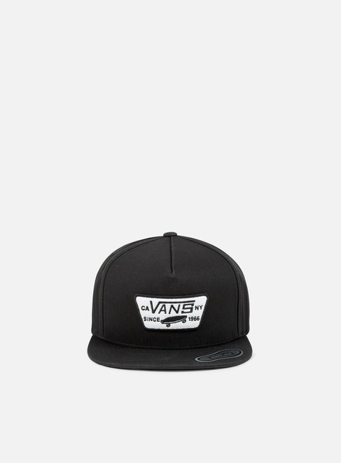 cappellini vans full patch snapback true black
