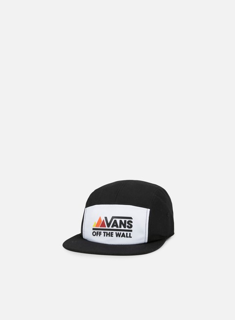 cappellini vans peaks 5 panel camp hat black