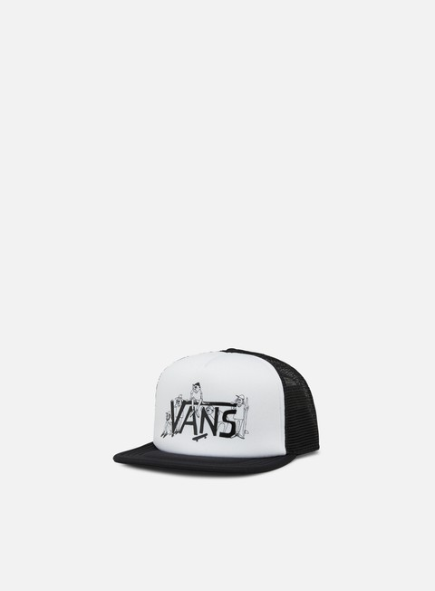 cappellini vans shaper gang trucker hat white black