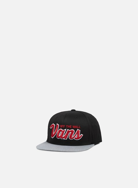 cappellini vans wilmington snapback black heather grey