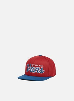 Vans - Wilmington Snapback, Red Dahlia/Blue