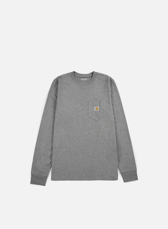 Carhartt - Pocket LS T-shirt, Dark Grey Heather