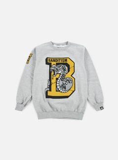 123Klan - Snake Mascot Crewneck, Athletic Grey
