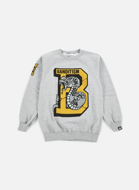 felpe 123klan snake mascot crewneck athletic grey