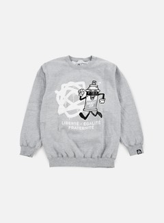 123Klan - Spraycan Liberté Crewneck, Athletic Grey 1