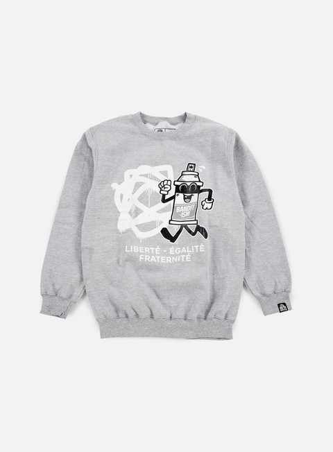 felpe 123klan spraycan liberte crewneck athletic grey