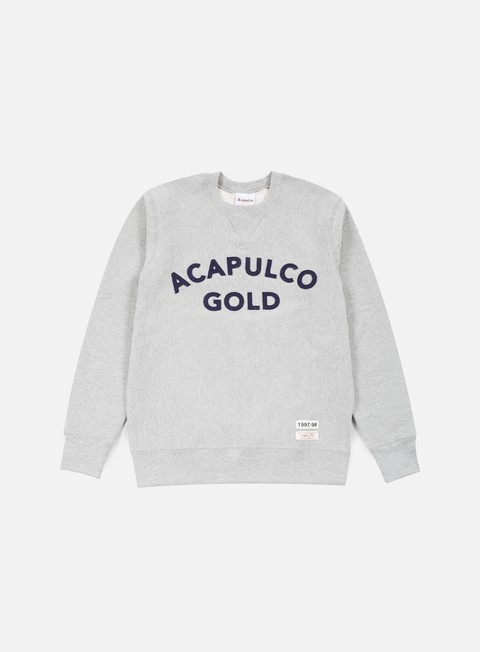 felpe acapulco gold championship crewneck heather grey
