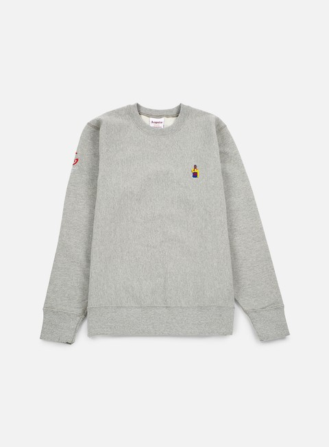felpe acapulco gold chef crewneck heather grey