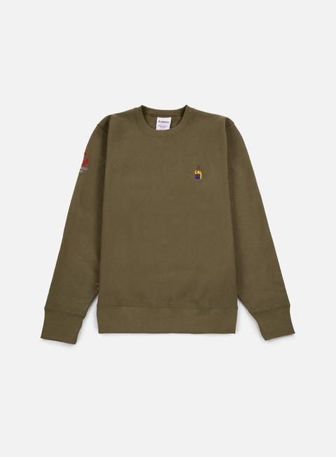 felpe acapulco gold chef crewneck olive