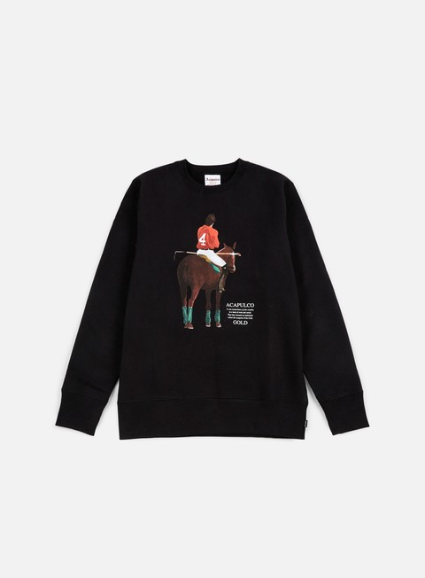 felpe acapulco gold players cup crewneck black