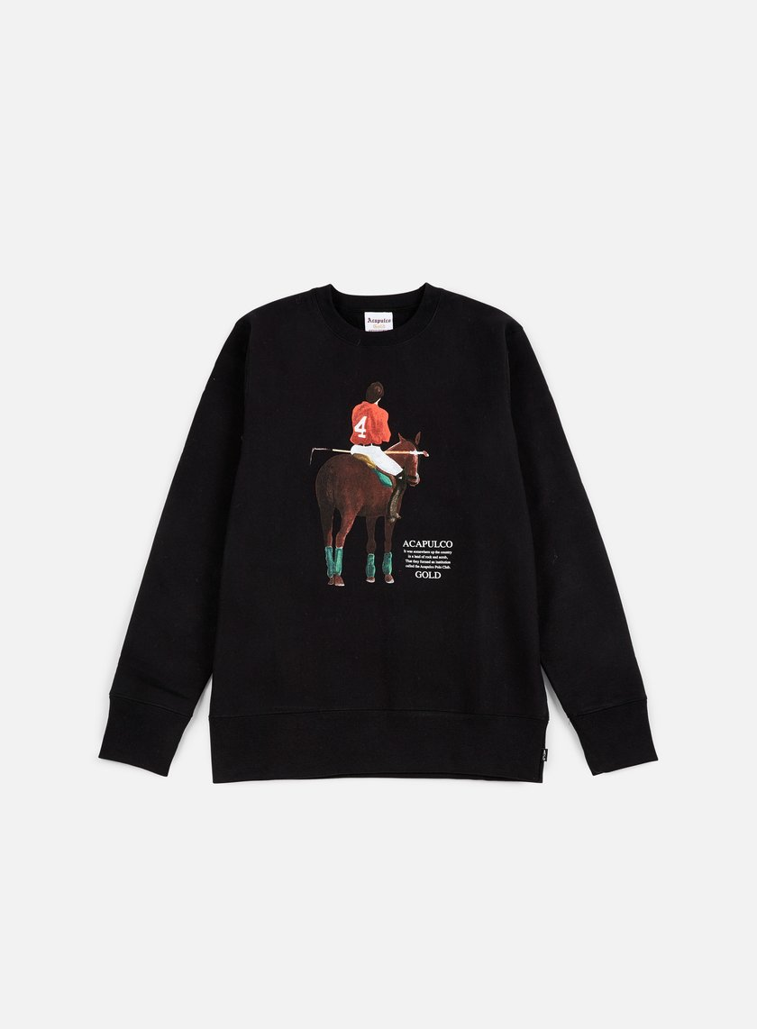 Acapulco Gold - Players Cup Crewneck, Black