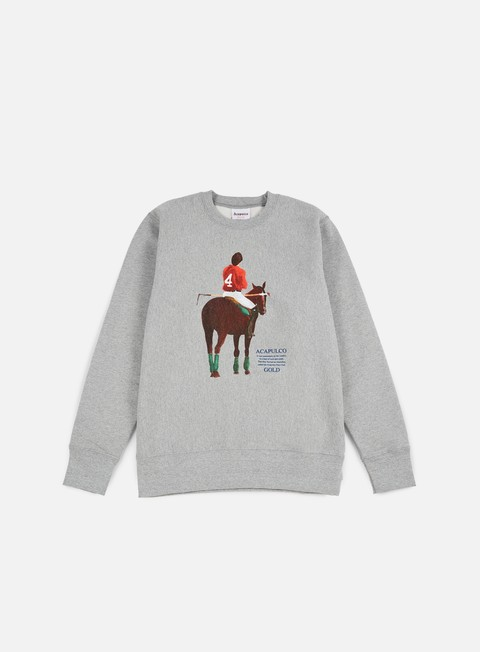 felpe acapulco gold players cup crewneck heather grey