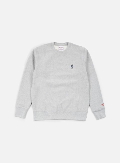 felpe acapulco gold show world crewneck heather grey
