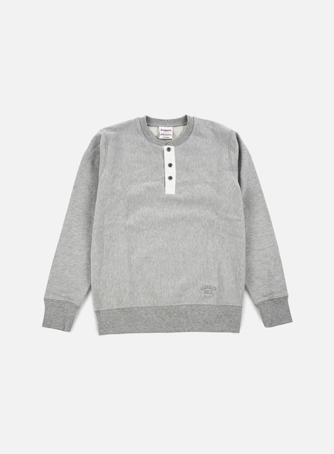 felpe acapulco gold tech crewneck heather grey