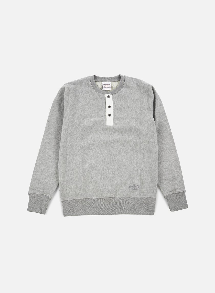 Acapulco Gold - Tech Crewneck, Heather Grey