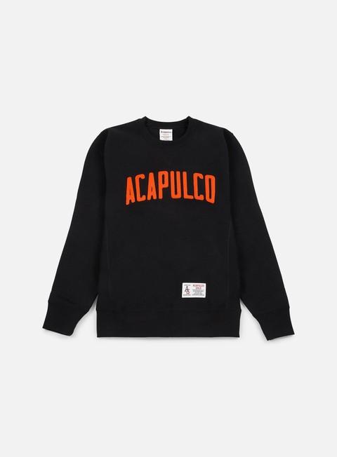 felpe acapulco gold varsity crewneck black