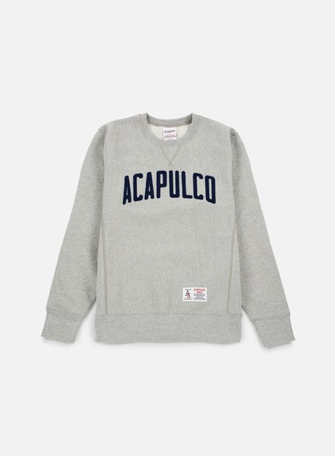 felpe acapulco gold varsity crewneck heather grey
