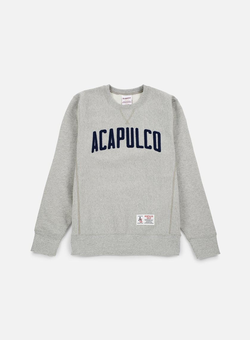 Acapulco Gold - Varsity Crewneck, Heather Grey