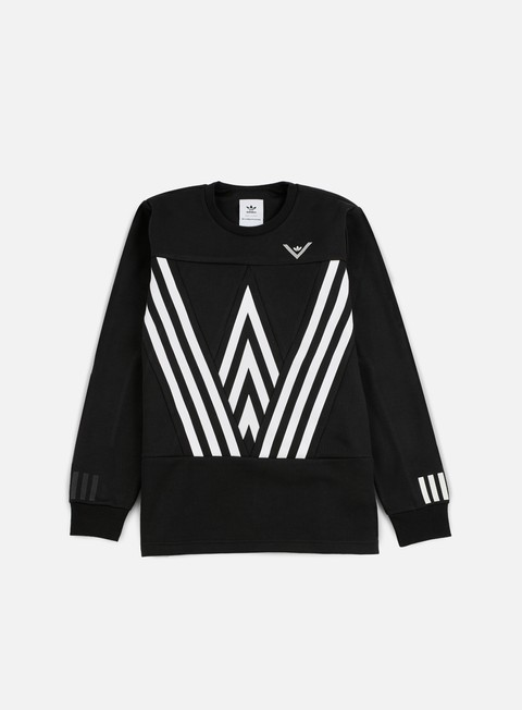 felpe adidas by white mountaineering wm crewneck black