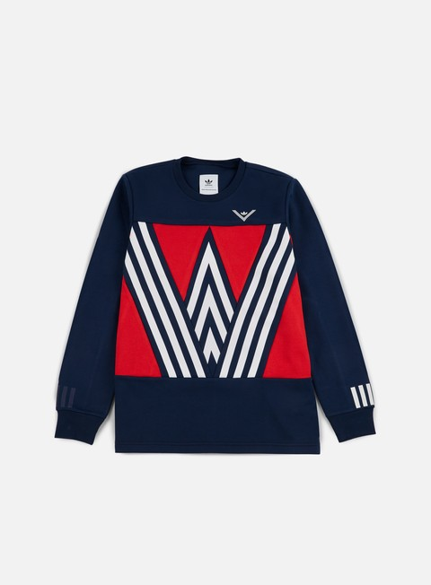 felpe adidas by white mountaineering wm crewneck collegiate navy