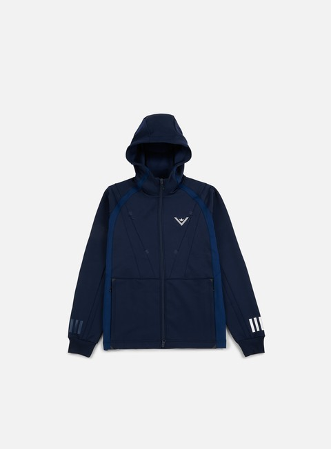 felpe adidas by white mountaineering wm hooded track jacket collegiate navy